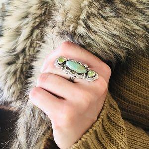 ♥️ Native American ♥️ Turquoise Peridot Ring